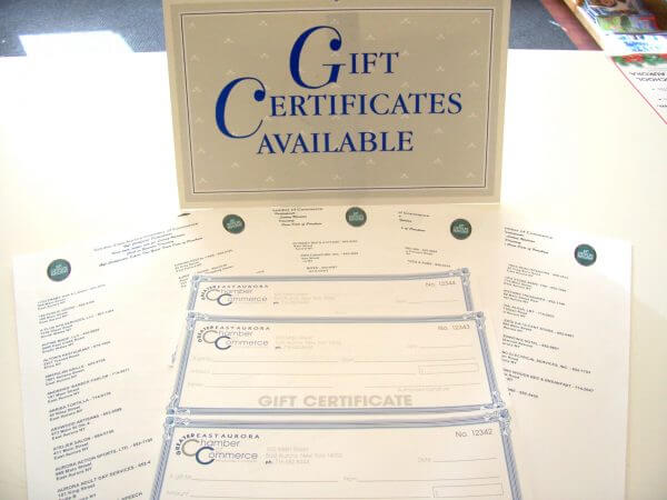 Chamber Gift Certificates Support Shop Local