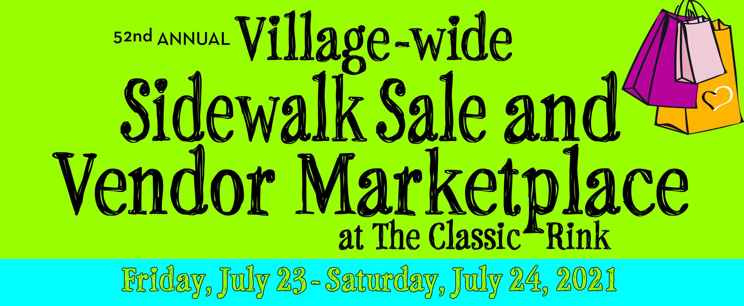Sidewalk Sale & Vendor Marketplace